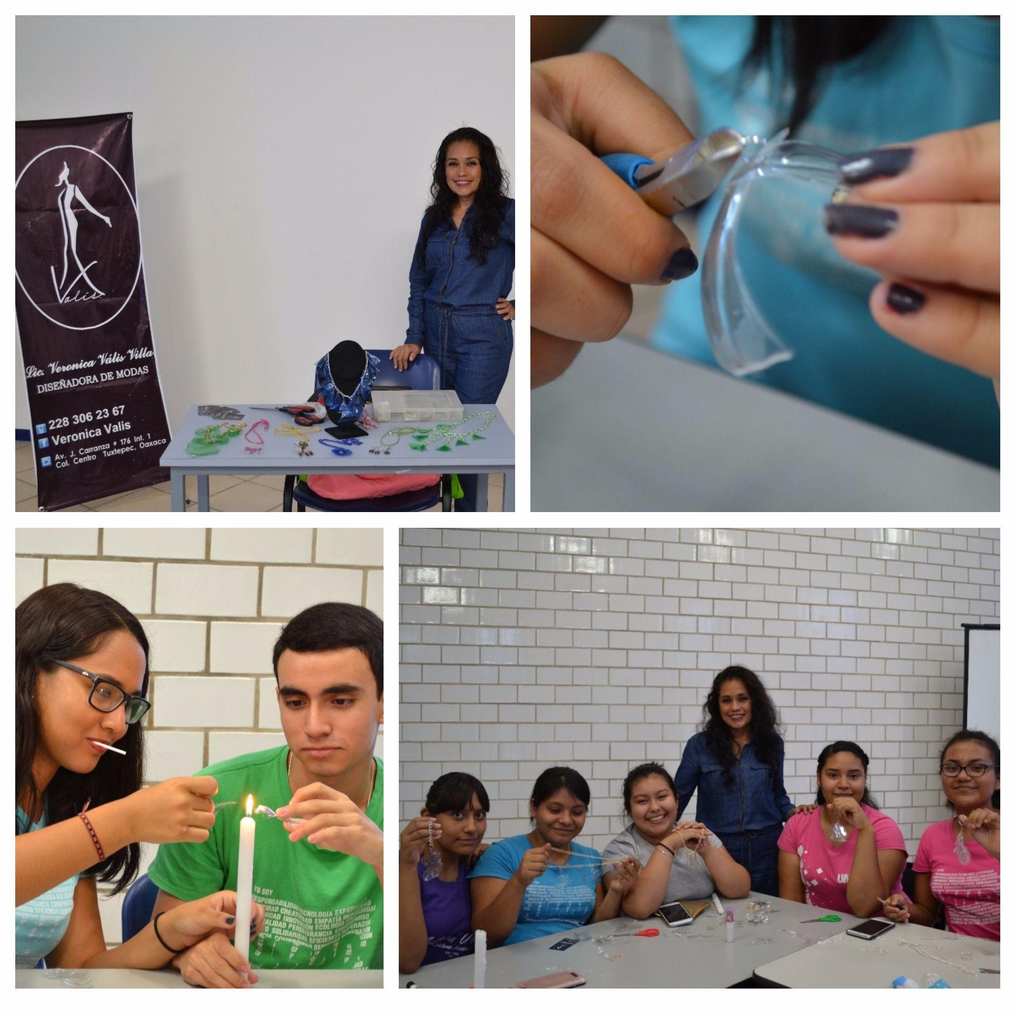 Dise?adora Tuxtepecana imparte Taller de Accesorios PET a alumnos de UMAD Papaloapan