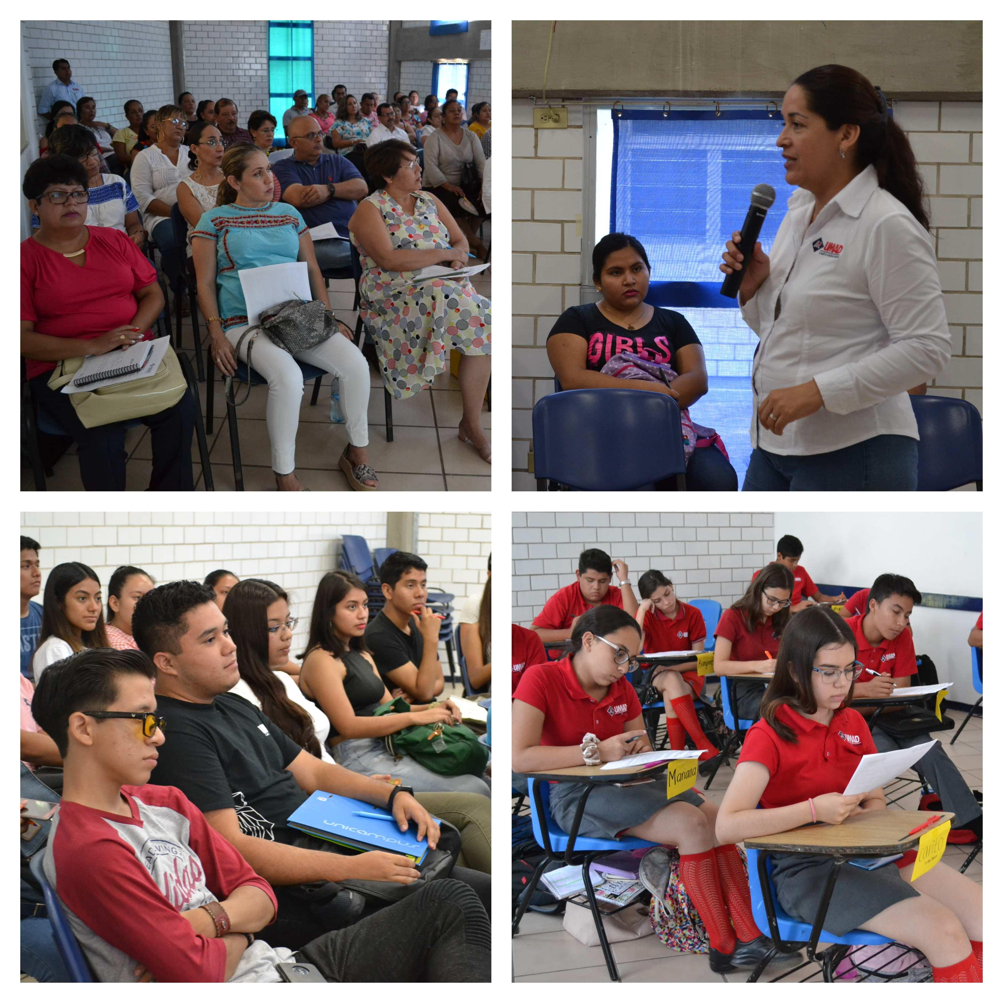 Se imparti? curso de inducci?n 2019 para padres y alumnos en UMAD Papaloapan