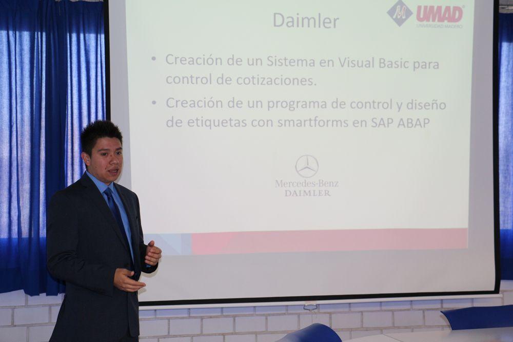 Egresado UMAD aplica conocimientos SAP en pr?cticas profesionales