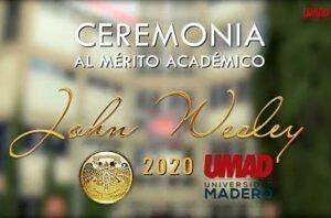 UMAD reconoció a alumnos destacados en ceremonia John Wesley
